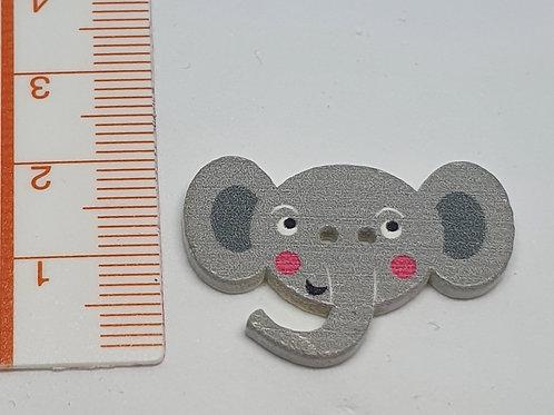 Holzknopf Elefant