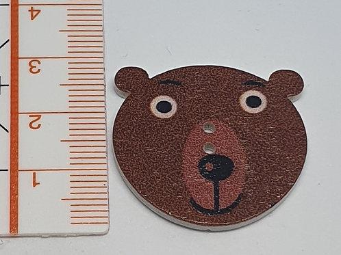 Holzknopf Bär