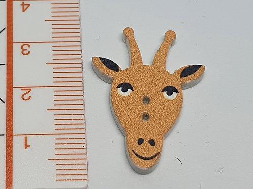 Holzknopf Giraffe