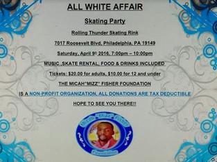 All White T-Shirt Skating Party at           Rolling Thunder Skating Rink