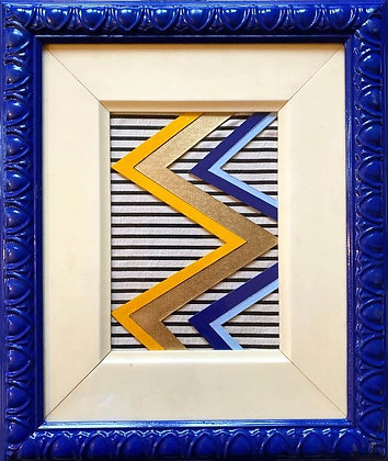 Emerald Blenkin, 'Zig Zag and Stripes (Blue)' 2020