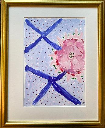 Tatiana Alida, 'Blue Ribbon and Flower Painting' 2020