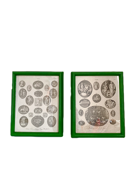 A Pair of Antique Pendant Prints by J. Wilkes, 1806
