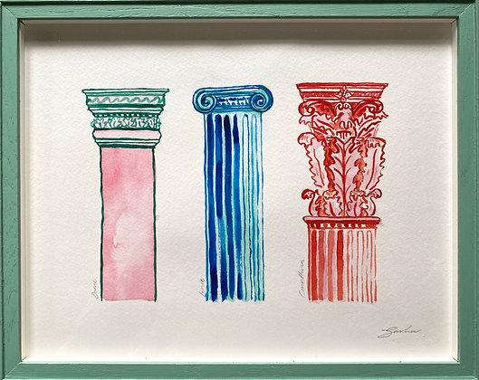 Sasha Compton, 'Classical Pillars' 2020