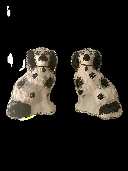 A Pair of Porcelain King Charles Spaniel Figurine