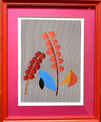 Emerald Blenkin, 'Seasonal Ticking Anthus (Pink and Red)' 2020