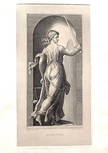 'Giustizia' engraving c.1800