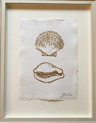 Sasha Compton, 'Botticelli Shells in Gold' 2020