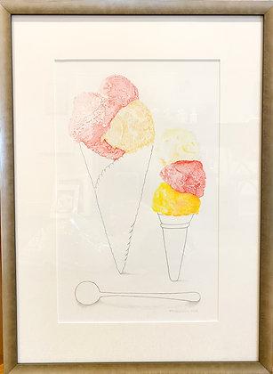Trisha Hayman, 'Ice Cream Cones' 2020