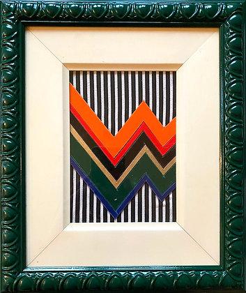 Emerald Blenkin, 'Zig Zag and Stripes (Green)' 2020