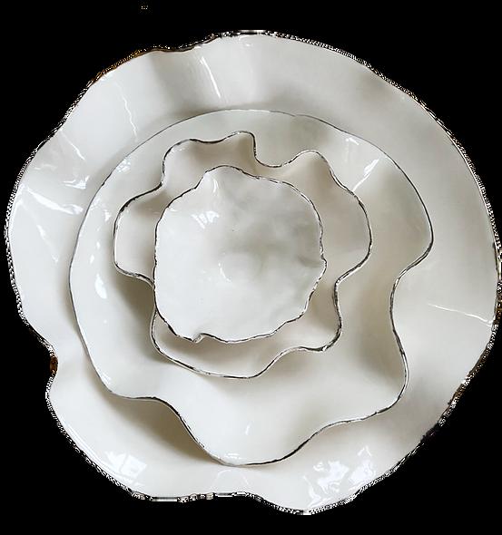 Joanna Ling, 'Silver Ceramic Nest Bowls' 2020