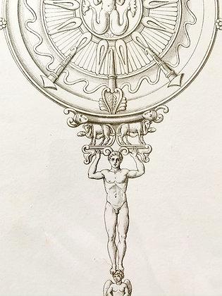 'Antique Figure' Engraving c1800