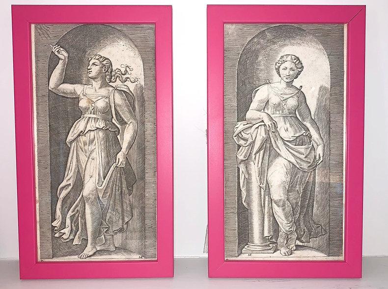 A Pair of Greek Goddess Engravings