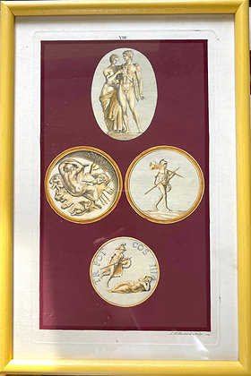 Louis Peter Boitard, 'A Polymetis Plate of Antique Cameos II' 1747