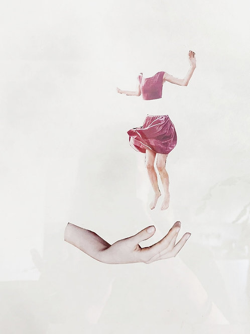 Sophie Siem, Leap, collage on paper, 2019