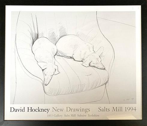 David Hockney Exhibition Poster, 1994