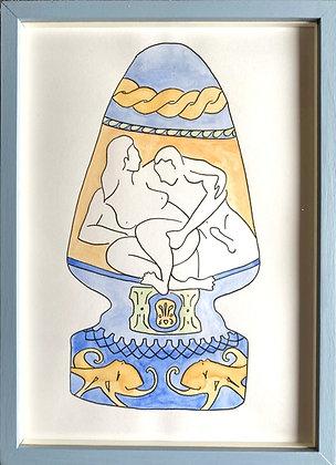 Louise Benton, 'Hokusai's Poseidon' 2021