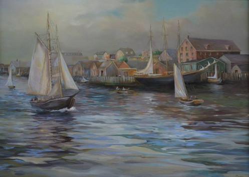 Yarmouth Waterfront, circa 1800's