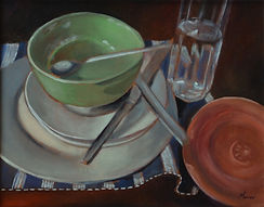 Dishes With Green Bowl..JPG