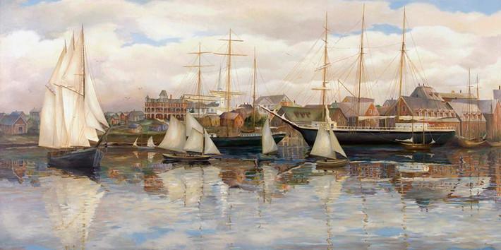 Yarmouth Harbour, circa 1880's