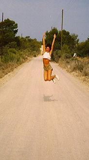 Loz-Ann McCarthy jumping