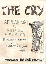 The Cry Poster Brunel University