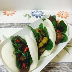Rendang/Satay Chicken'Bao'