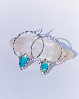 Erakko earrings *aqua*