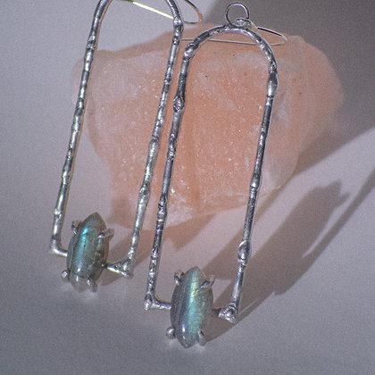 Luminaris earrings *labradorite*