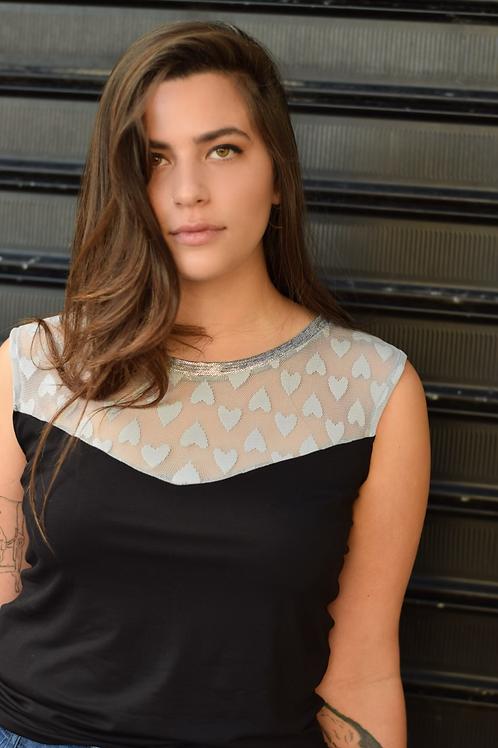 חולצת אריזונה שחור/אפור