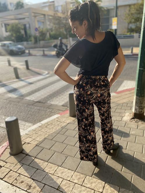 מכנסי רטרו שחור יפני