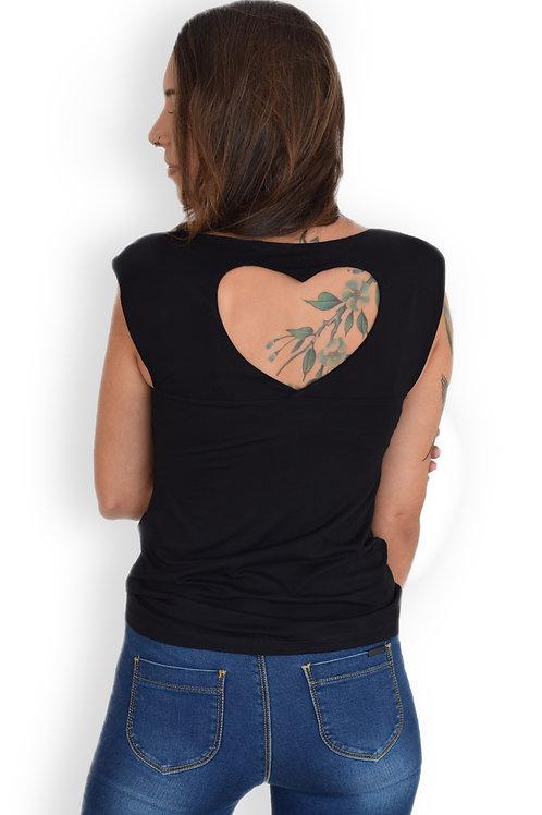 חולצת לב שחור