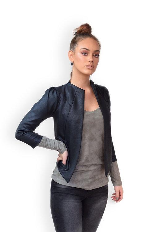 הז'קט המושלם שחור דמוי עור
