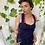 Thumbnail: חולצת קארין כחול פסים/אדום