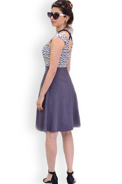 שמלת מישל סגול מעושן