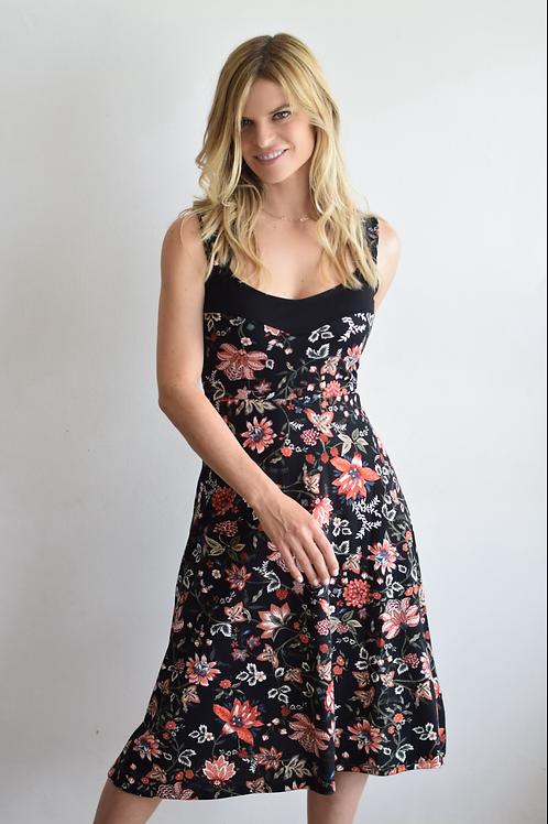 שמלת קולורדו שחור פרחוני