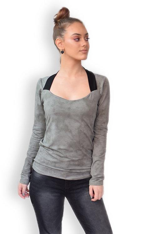 חולצת ויקטוריה אפור זית