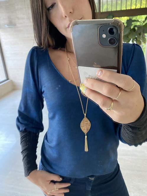 חולצת סלסט כחול כהה