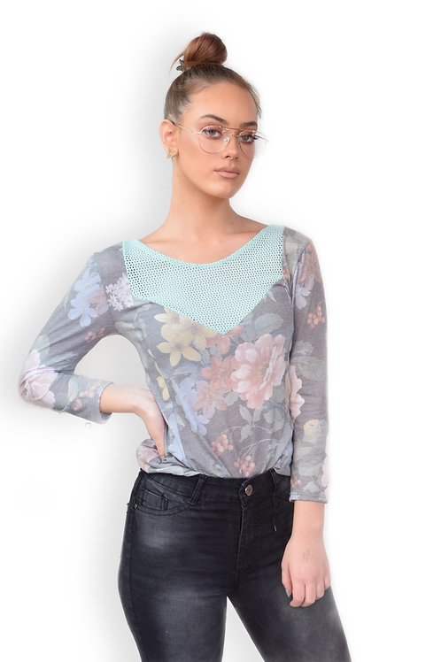 חולצת אלה פרחים