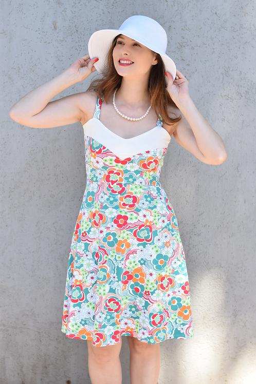 שמלת טנסי פרחוני