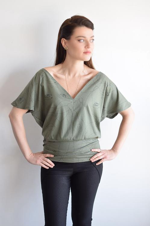 עותק של חולצת טקסס ירוק זית