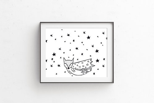 REACH FOR THE STARS Fox | Illustration