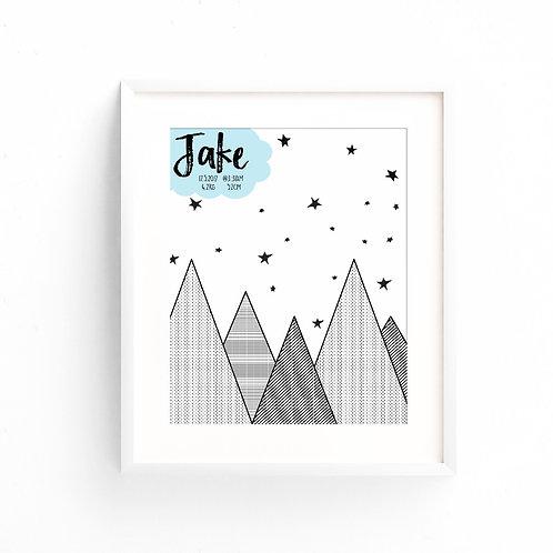 MOUNTAINS | Custom Print