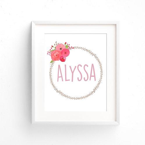 ALYSSA WREATH   Custom Print