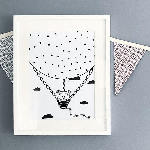 UP I GO Bear | Illustration