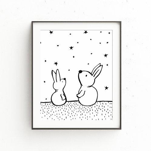 THINKING OF YOU Bunny | Illustration