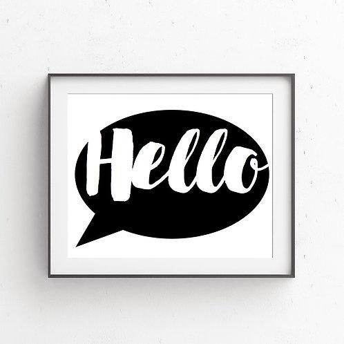 HELLO | Bubble Speech