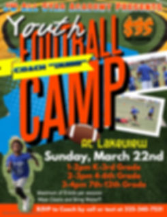 Copy of Kids Football Camp Flyer - Made