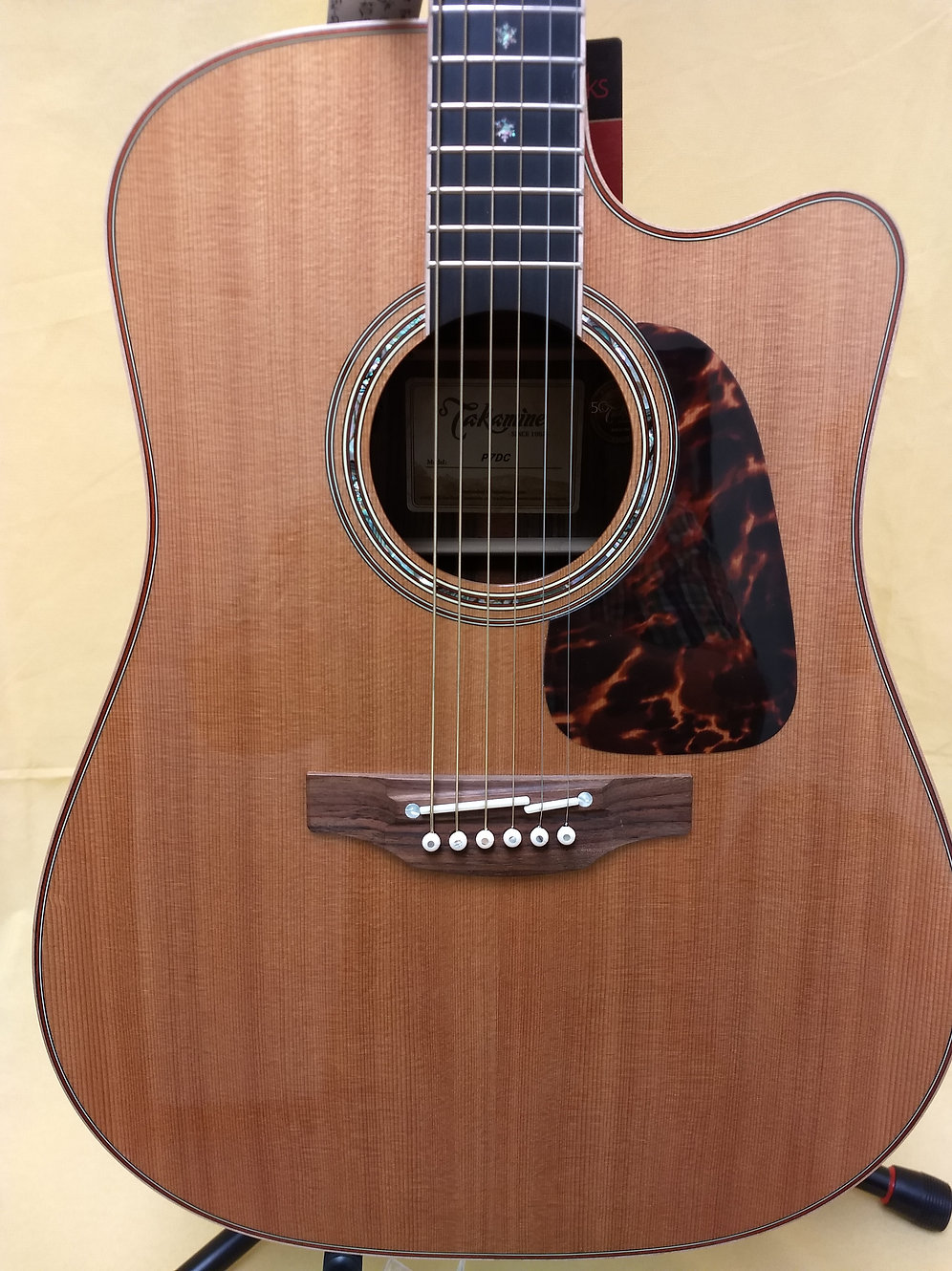 Takamine P7DC Acoustic Electric Dreadnought Cutaway Guitar