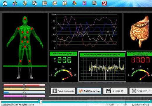 Quantum YK3 magneticko-rezonanční analyzátor